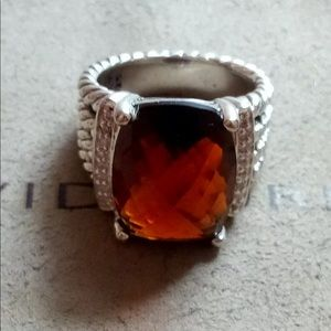 David Yurman Smoky Topaz Ring! Size 5.5